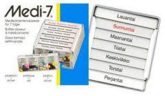 Medi-7 viikkoannostelija irrotettavat päivärasiat X1 kpl