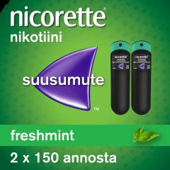 NICORETTE FRESHMINT 1 mg/annos sumute suuonteloon 2x150 annosta