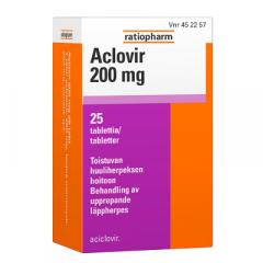 ACLOVIR 200 mg tabl 25 fol